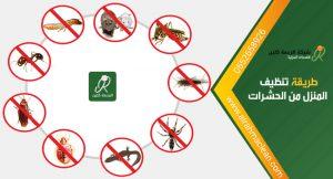 طريقة تنظيف المنزل من الحشرات