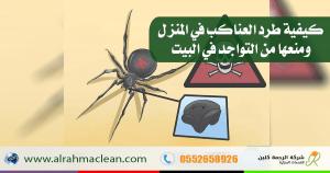 طريقة طرد العناكب من البيت .. و ما معنى وجود العنكبوت في البيت ؟